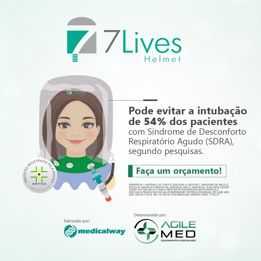 7Lives Helmet | Agile Med Equipamentos e Serviços Hospitalares