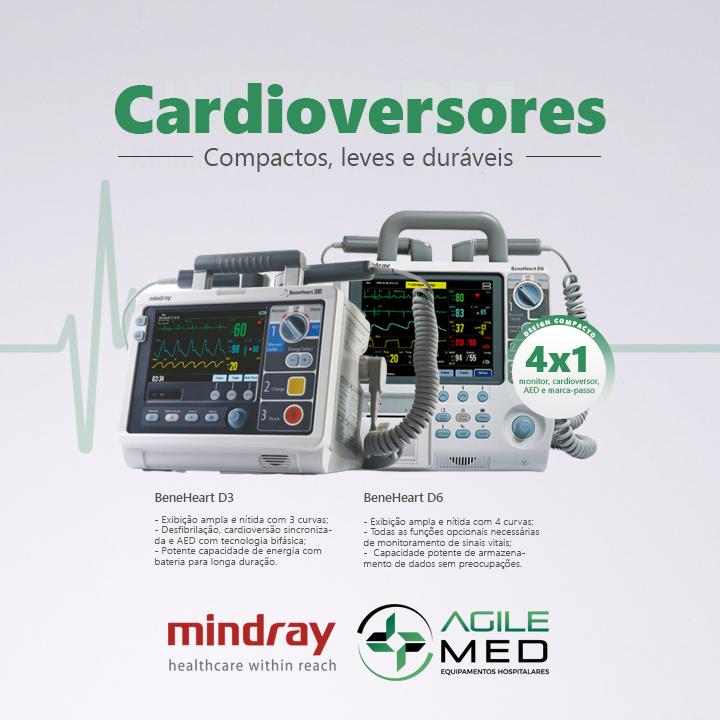 Cardioversores Mindray | Agile Med Equipamentos e Serviços Hospitalares